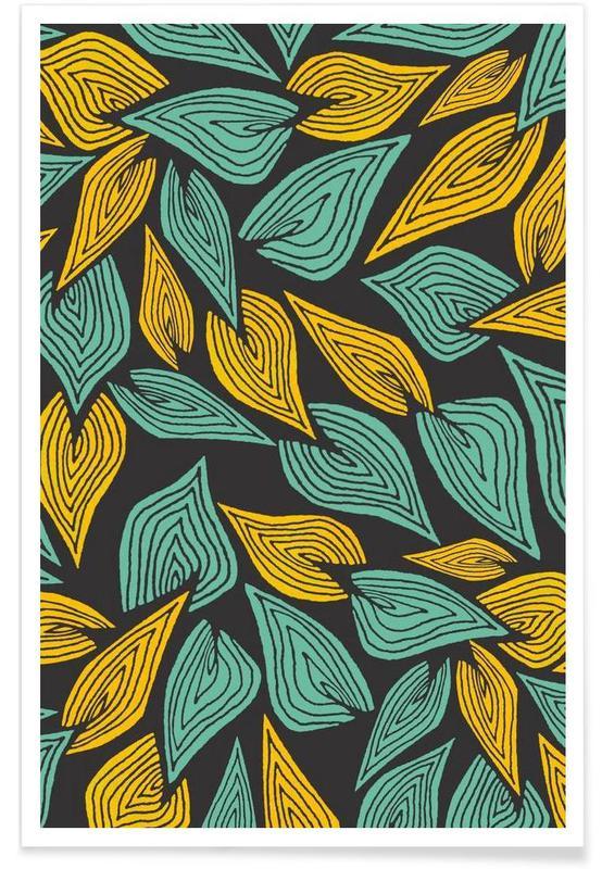 Feuilles & Plantes, Autumn Wind affiche