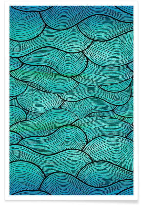 Sea Waves Pattern Poster