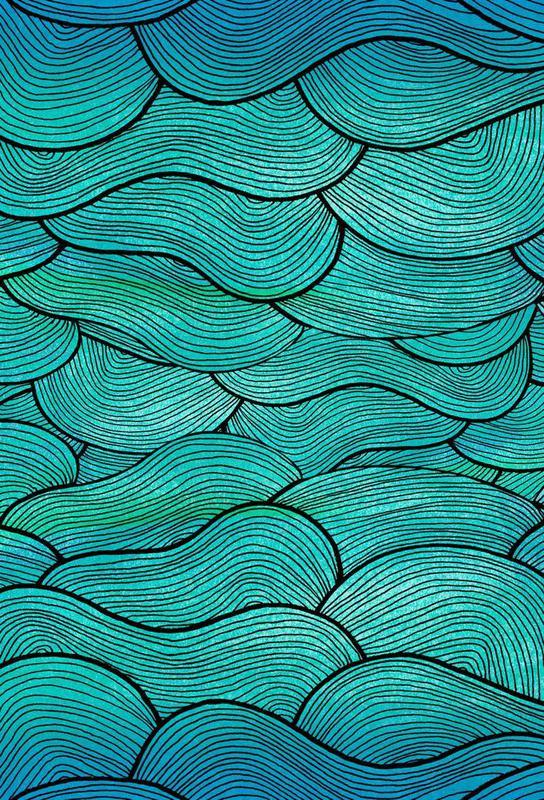 Sea Waves Pattern -Acrylglasbild