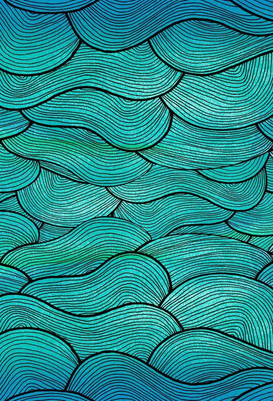 Sea Waves Pattern Aluminium Print