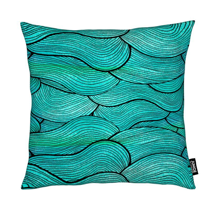 Sea Waves Pattern coussin