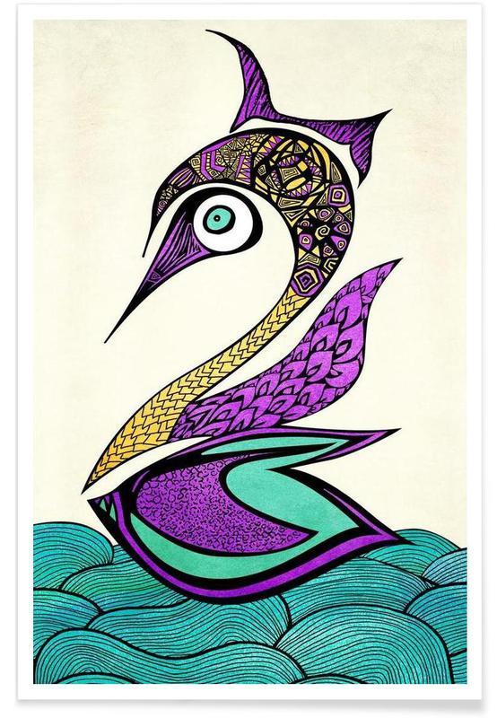 Mystic Swan Poster