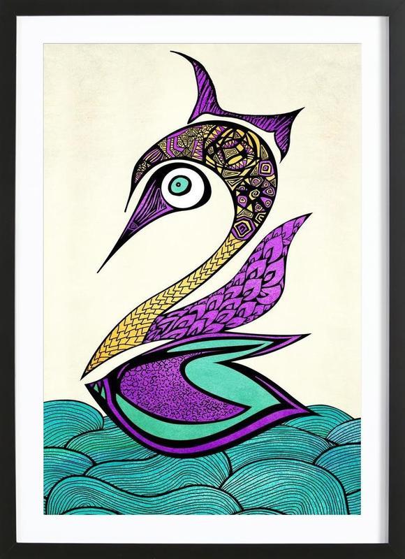Mystic Swan Framed Print