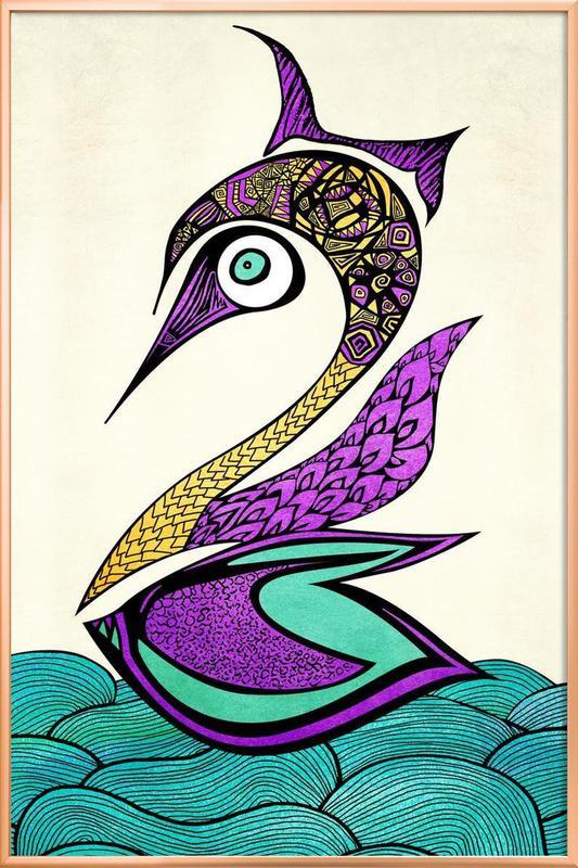 Mystic Swan Poster in Aluminium Frame