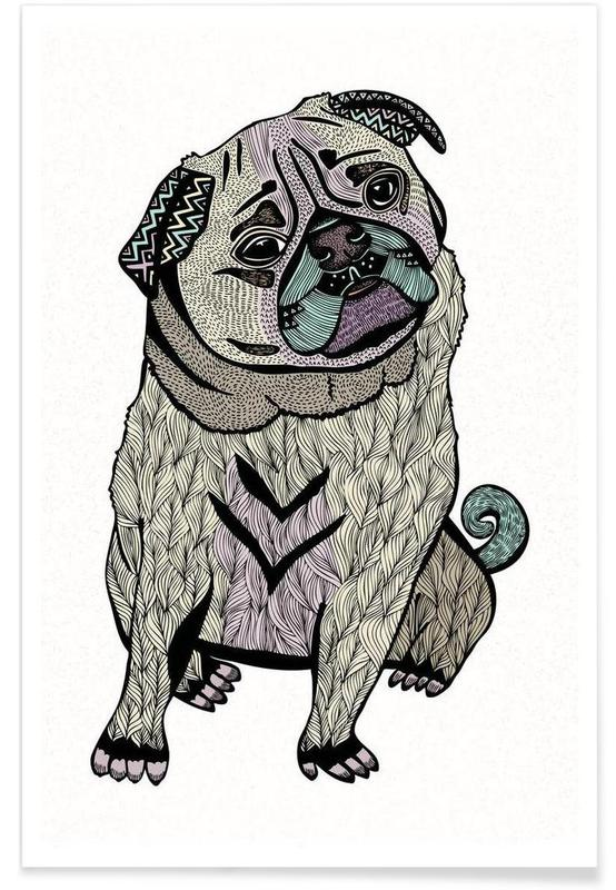 Dogs, Ares The Pug Poster