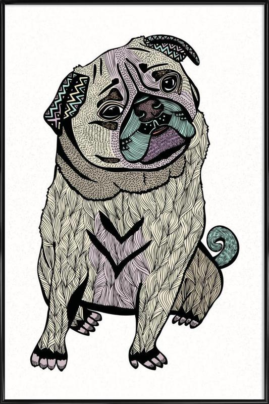 Ares The Pug Framed Poster