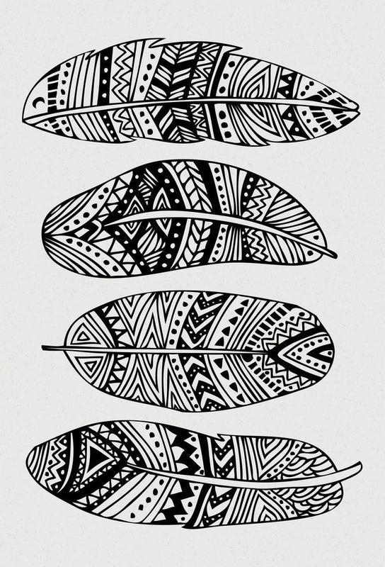 Feathers Of My Life Aluminium Print