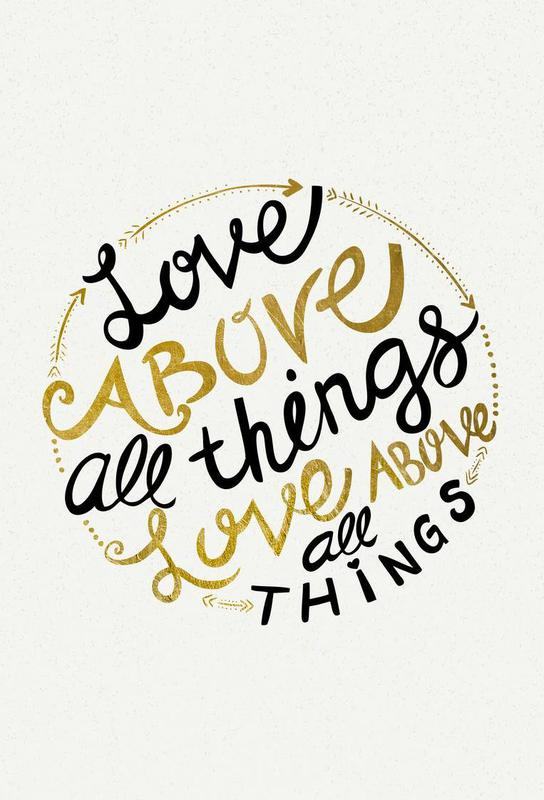 Love Above All Things Aluminium Print