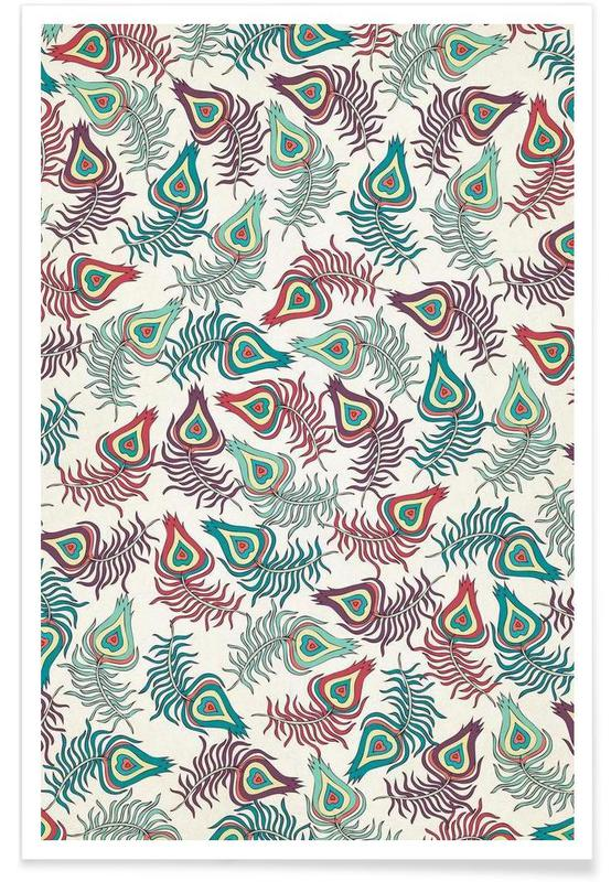 Peacocks, Peacock Feathers Poster