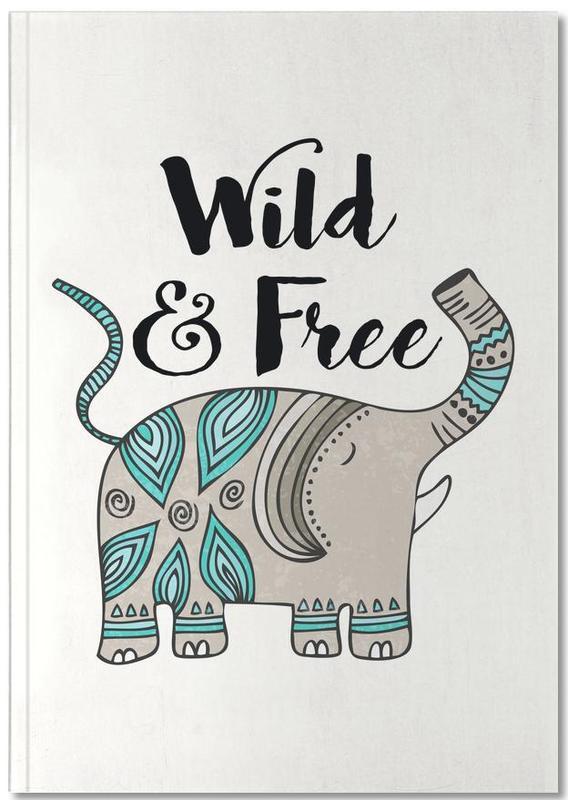 Olifanten, Motivatie, Wild And Free Notebook