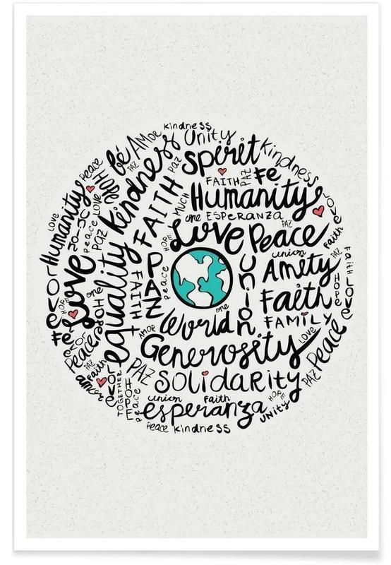 Citations et slogans, World Positive Messages affiche
