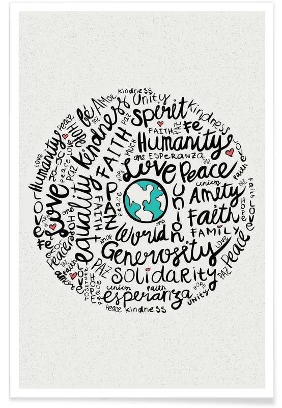 Quotes & Slogans, World Positive Messages Poster