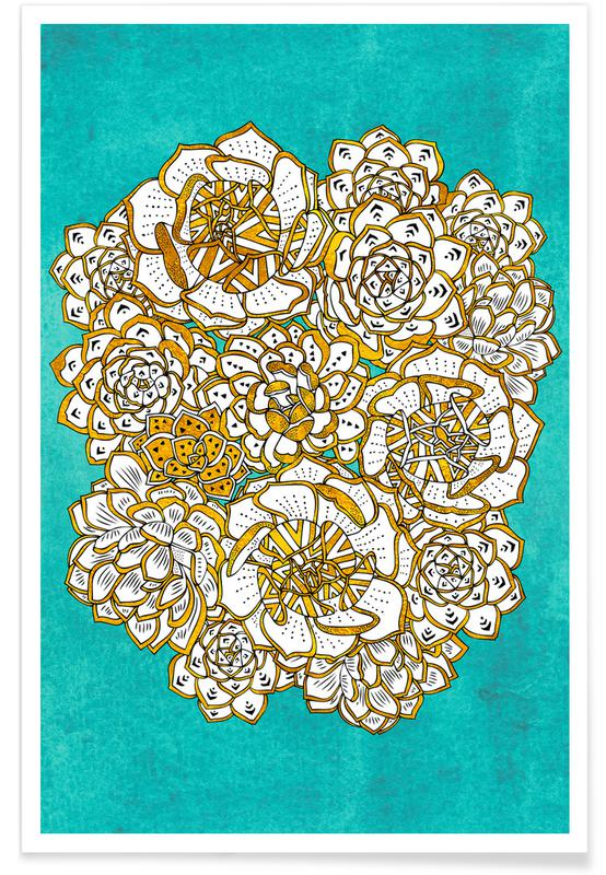 , Blooming Succulents affiche