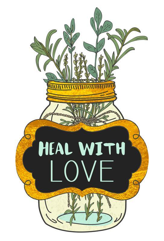 Heal with Love Aluminium Print