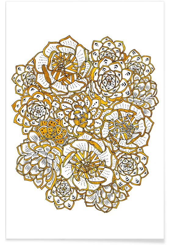 , Succulent Bouquet Poster
