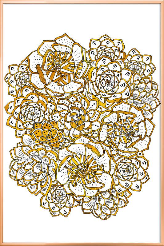 Succulent Bouquet Poster in Aluminium Frame