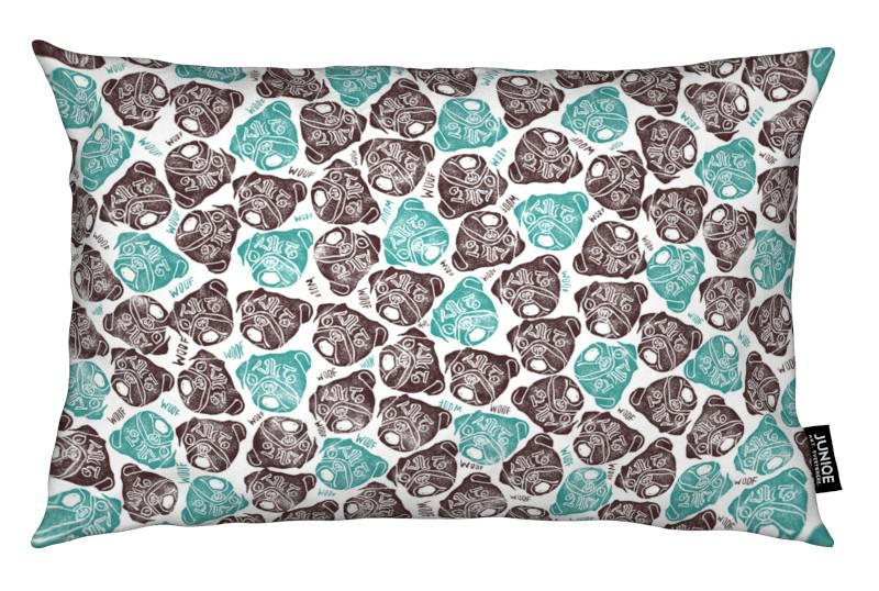 Chiens, The Barking Pug coussin