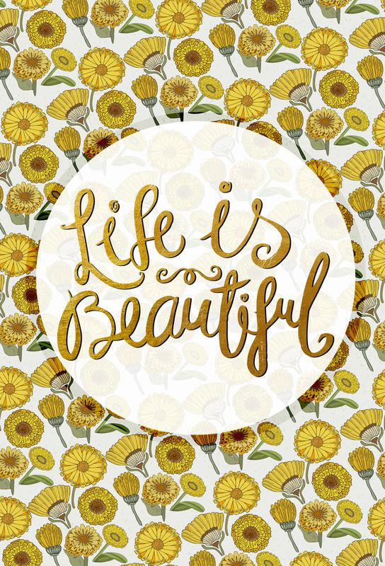 Life is Beautiful Aluminium Print