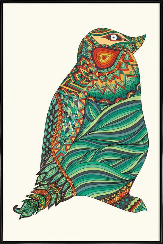 Ethnic Penguin -Bild mit Kunststoffrahmen