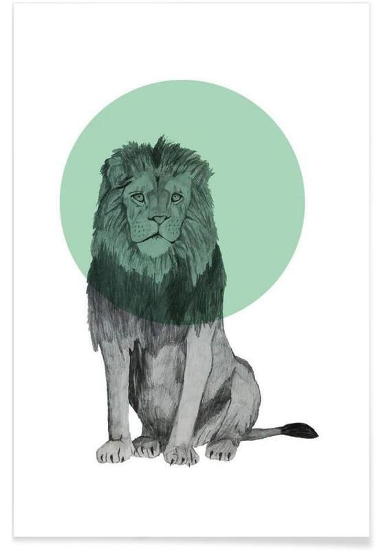 Lions, Lion Drawing Poster