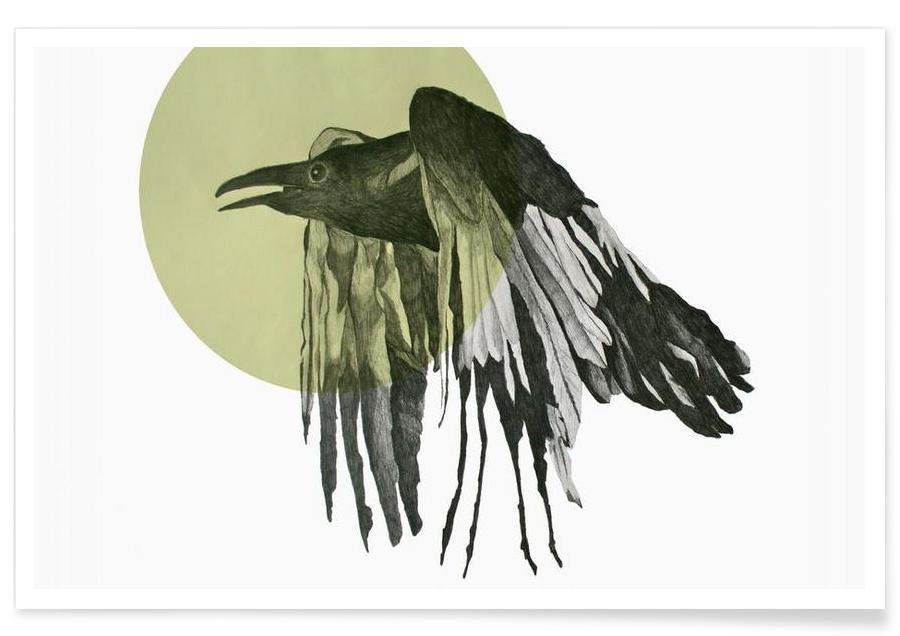 Raven Drawing Poster