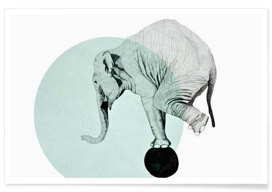 Éléphants, Eléphant - Dessin affiche