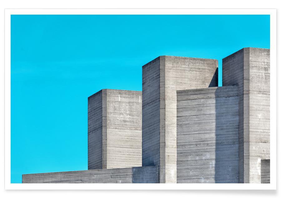 Architectonische details, Londen, National Theatre 03 poster