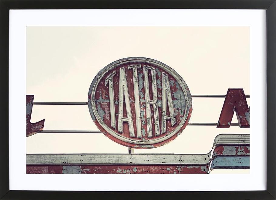 Tatra affiche sous cadre en bois
