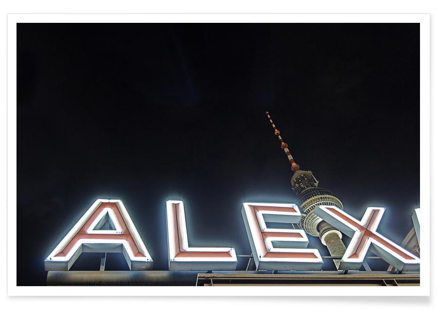 Berlin, Monuments et vues, Alex affiche