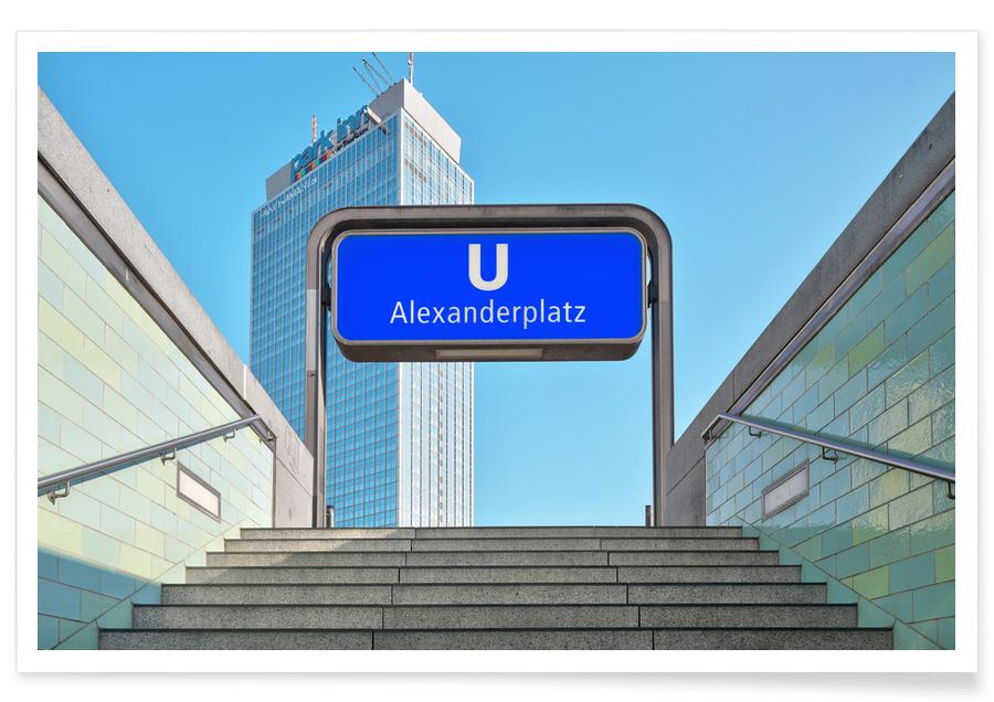Berlijn, Wolkenkrabbers, Park Inn poster