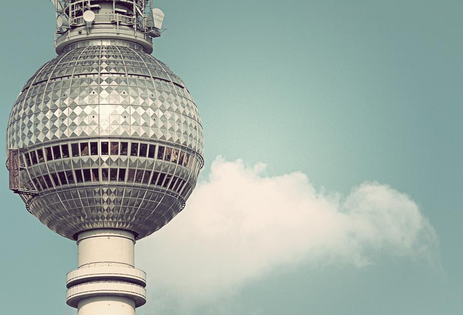 Fernsehturm -Alubild