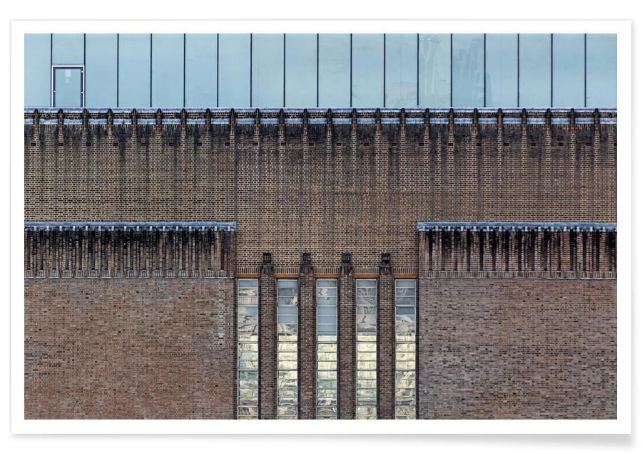 Détails architecturaux, Londres, Tate Modern affiche