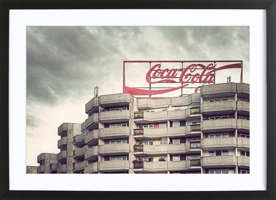 Coca Cola -Bild mit Holzrahmen