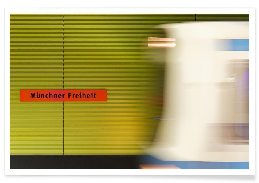 Munich, Voyages, Münchener Freiheit affiche