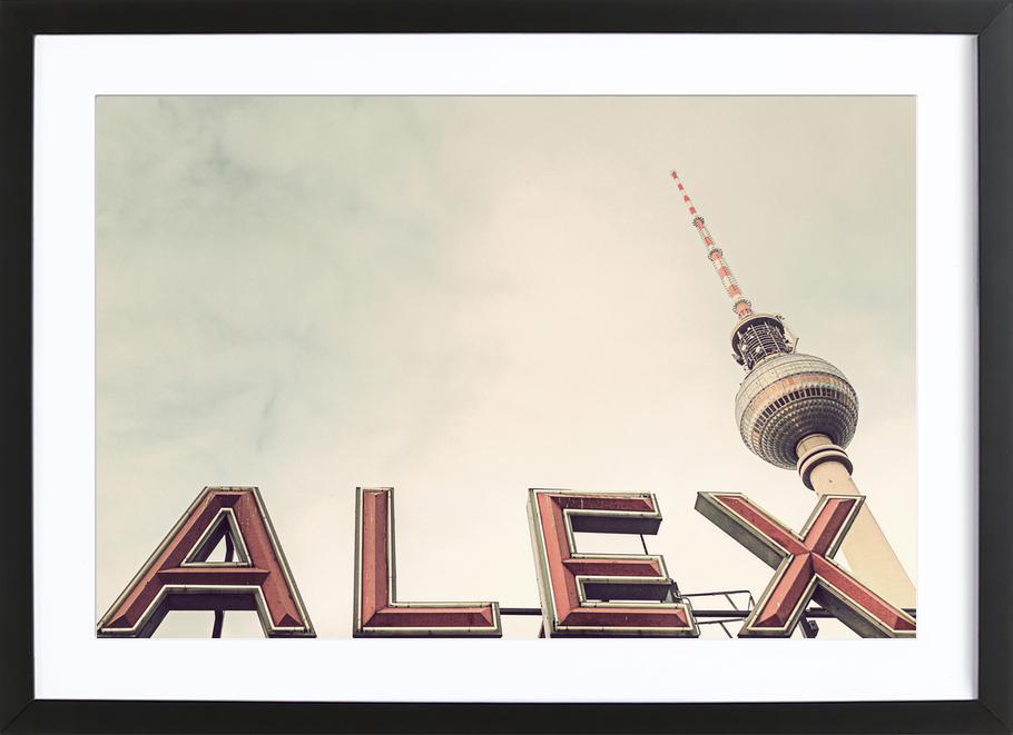 Alex -Bild mit Holzrahmen