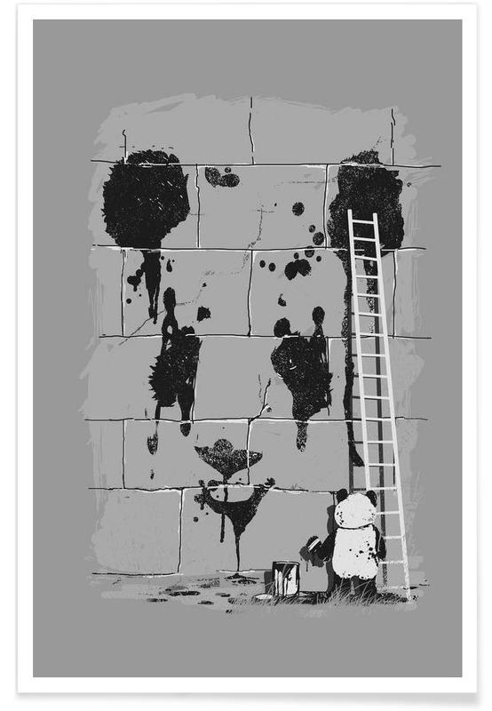 Sort & hvidt, Pandaer, Self Portrait Plakat