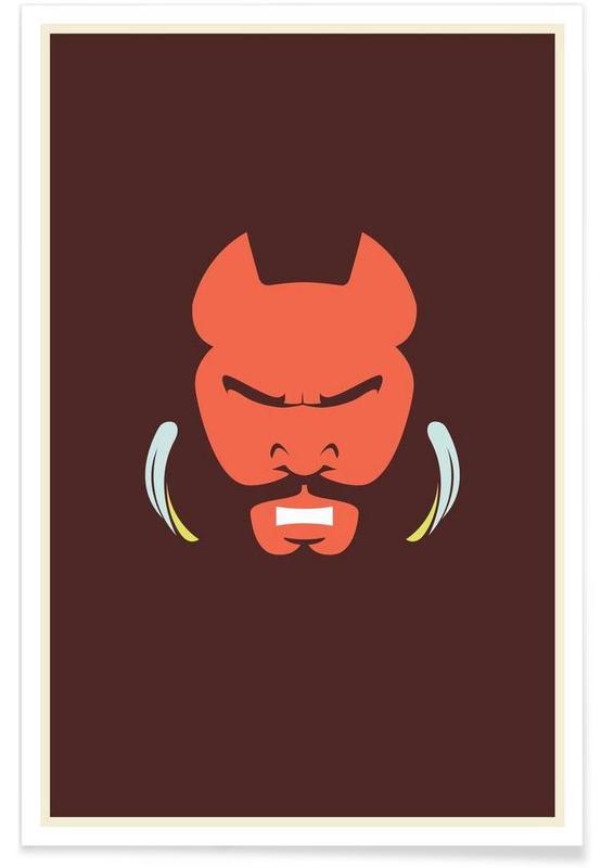 Mr T – minimalistisch -Poster