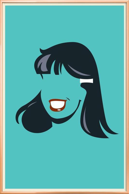 Veronica Poster in Aluminium Frame