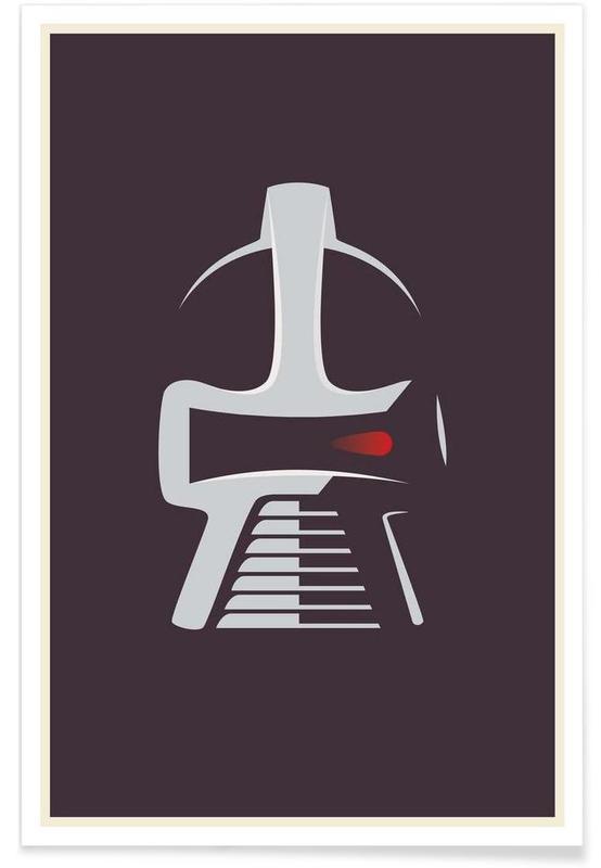 , Battlestar Galactica - Minimaliste affiche