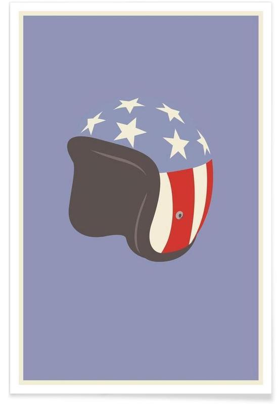 Movies, Easy Rider Helmet Minimalist Poster