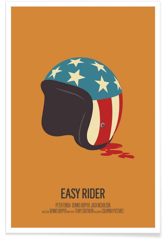 Easy Rider - Minimaliste affiche