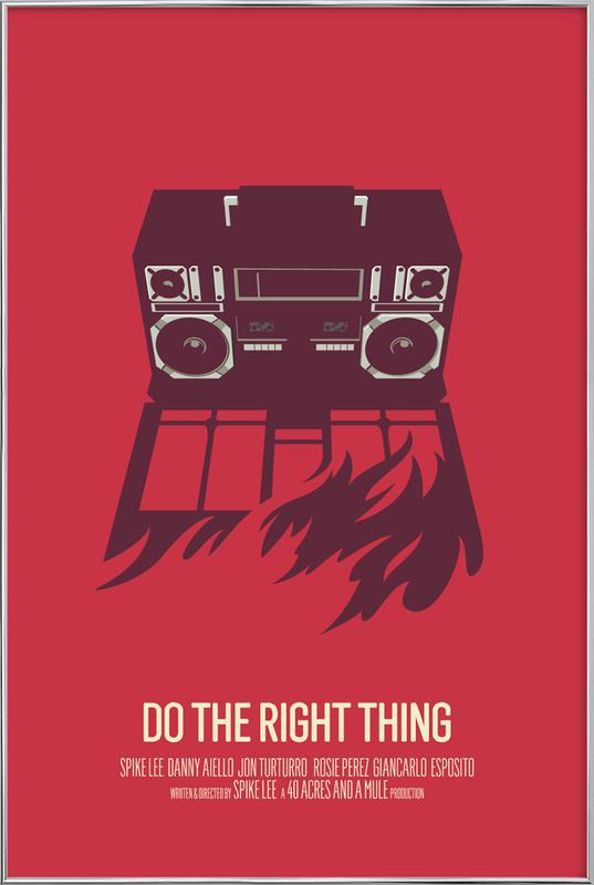 Do The Right Thing Poster in Aluminium Frame
