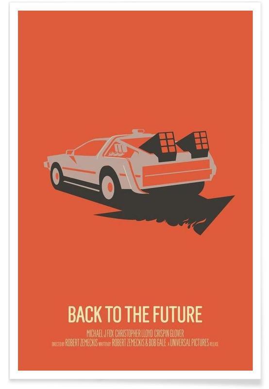 Retour vers le futur 2 - Minimaliste affiche