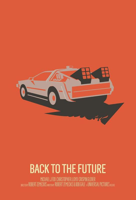 Back to the Future 2 Aluminium Print