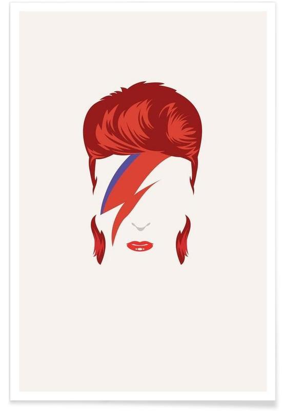 David Bowie Minimalist Poster