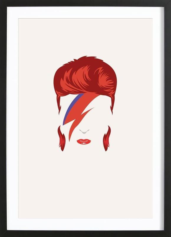 Bowie ingelijste print