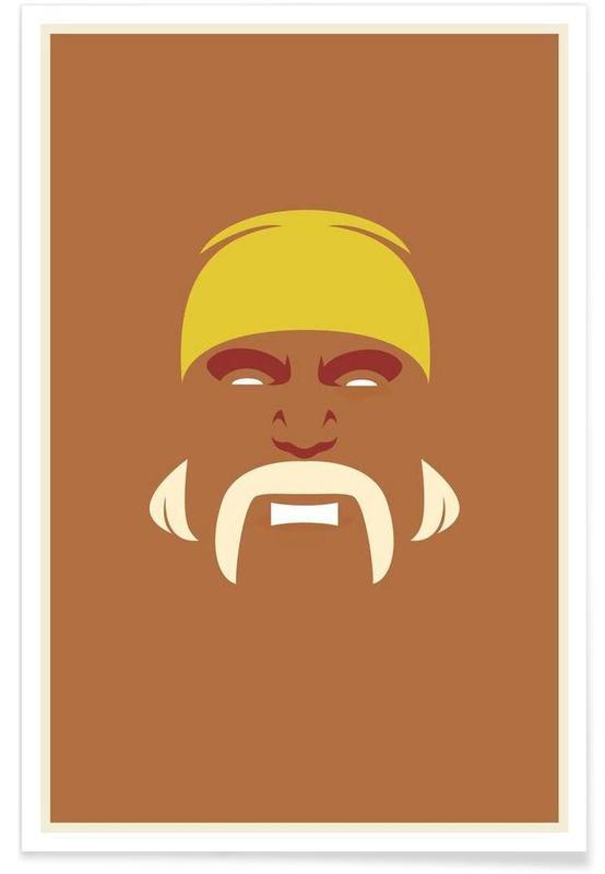 Hulk Hogan - minimalistisch poster