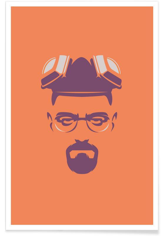 TV Shows, Walter White Minimalist Poster