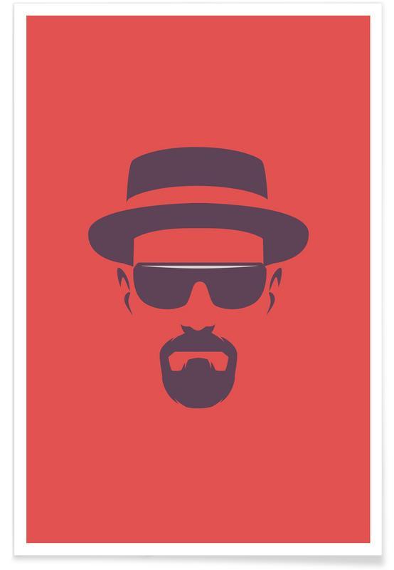 Tv-series, Heisenberg - minimalistisch poster