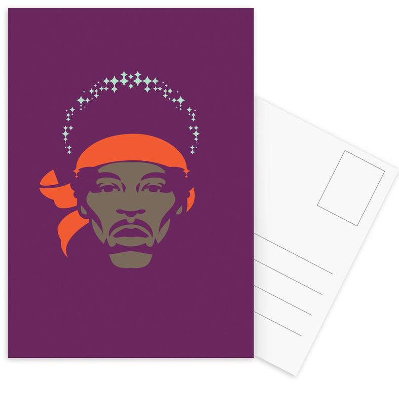 Jimi Hendrix, Rock, Hendrix ansichtkaartenset